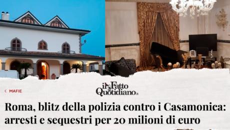 #ROMA - NUOVO BLITZ CONTRO IL CLAN CASAMONICA. GRAZIE AL LAVORO DELLE FORZE DELL'ORDINE E DEGLI INVESTIGATORI DI DEBELLAZIONE DELLE MAFIE NEL LAZIO.